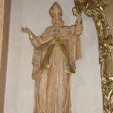 Vokányi plébániatemplom - Szent Ágoston püspök szobra